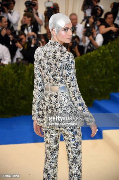 Cara Delevingne attends the 'Rei Kawakubo/Comme des Garcons Art Of The InBetween' Costume Institute Gala at Metropolitan Museum of Art on May 1 2017...