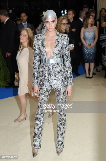 Cara Delevingne attends the Rei Kawakubo/Comme des Garcons Art Of The InBetween Costume Institute Gala at the Metropolitan Museum of Art on May 1...