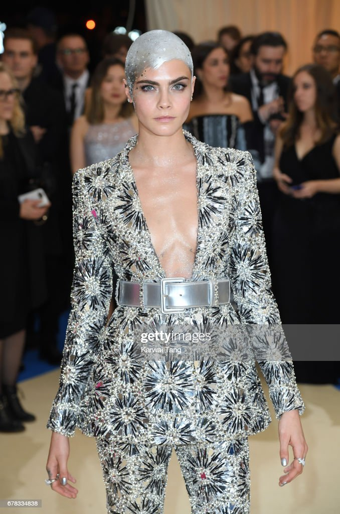 Cara Delevingne attends the 'Rei Kawakubo/Comme des Garcons: Art Of The In-Between' Costume Institute Gala at the Metropolitan Museum of Art on May 1, 2017 in New York City.