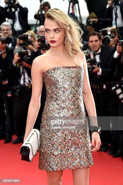 "Cara Delevingne attends ""The Search"" Premiere at the 67th Annual Cannes Film Festival on May 21, 2014 in Cannes, France."
