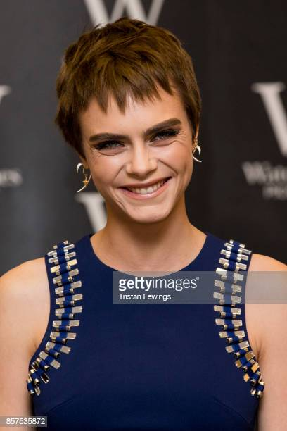 Cara Delevingne attends the signing of her debut Young Adult novel 'Mirror Mirror' at Waterstones Piccadilly on October 4 2017 in London England
