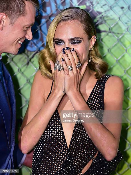 """Cara Delevingne attends the """"Suicide Squad"""" premiere at The Beacon Theatre on August 1, 2016 in New York City."""