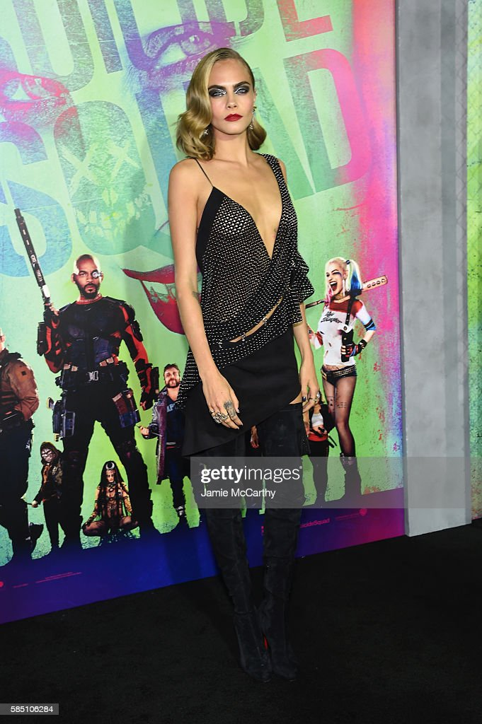 Cara Delevingne attends the 'Suicide Squad' World Premiere at The Beacon Theatre on August 1, 2016 in New York City.