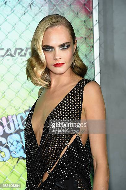 Cara Delevingne attends the 'Suicide Squad' World Premiere at The Beacon Theatre on August 1 2016 in New York City