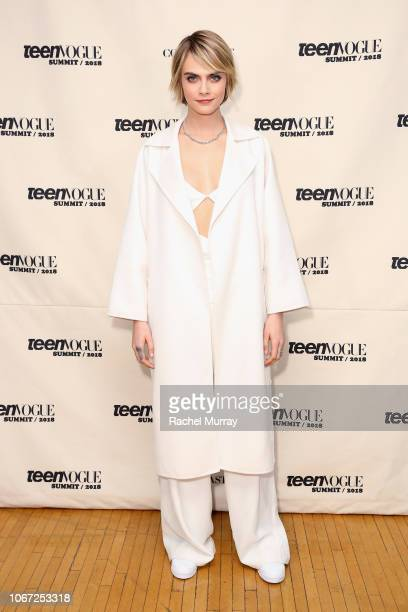 Cara Delevingne attends The Teen Vogue Summit 2018 at 72andSunny on December 1 2018 in Los Angeles California