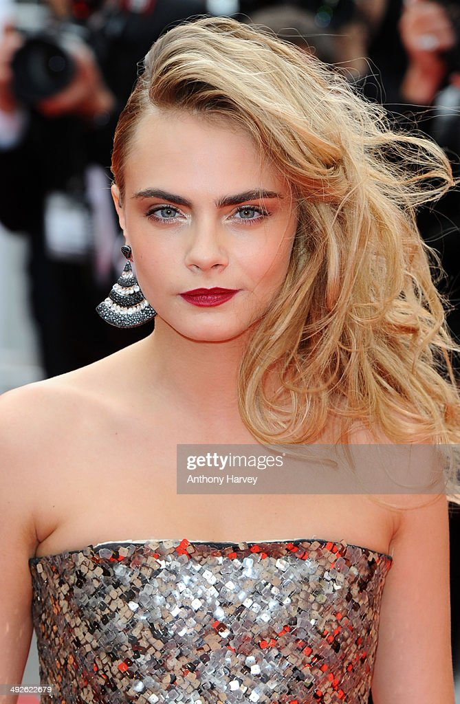 Cara Delevingne attends the 'The Search' Premiere at the 67th Annual Cannes Film Festival on May 21, 2014 in Cannes, France.