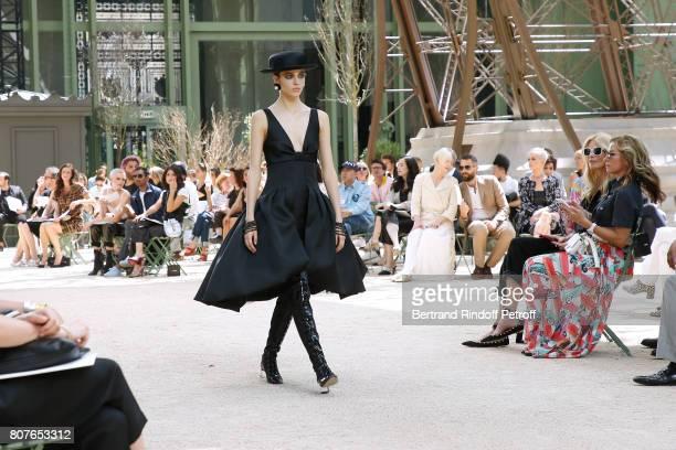 Cara Delevingne Aziz Ansari Alessandra Mastronardi Tilda Swinton her husband Sandro Kopp Katy Perry and Claudia Schiffer attend the Chanel Haute...