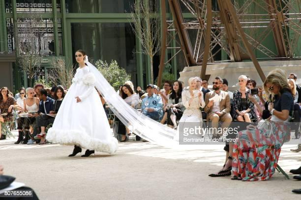 Cara Delevingne Aziz Ansari Alessandra Mastronardi Tilda Swinton her husband Sandro Kopp and Katy Perry attend the Chanel Haute Couture Fall/Winter...