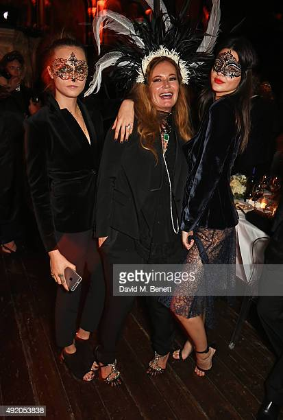 Cara Delevingne Eva Cavalli and Kendall Jenner attend Eva Cavalli's birthday party at One Mayfair on October 9 2015 in London England
