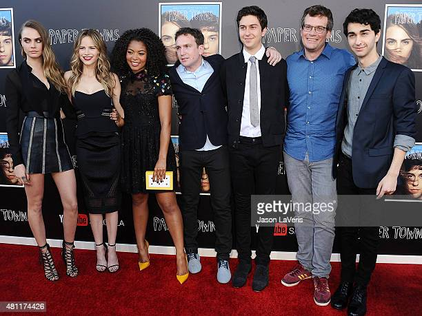 Cara Delevingne Halston Sage Jaz Sinclair Jake Schreier Nat Wolff John Green and Alex Wolff attend the Paper Towns QA and live concert at YouTube...