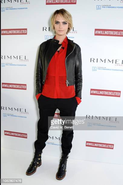 Cara Delevingne is pictured at the launch of #IWILLNOTBEDELETED campaign by Rimmel part of global beauty company Coty to tackle the issue of beauty...