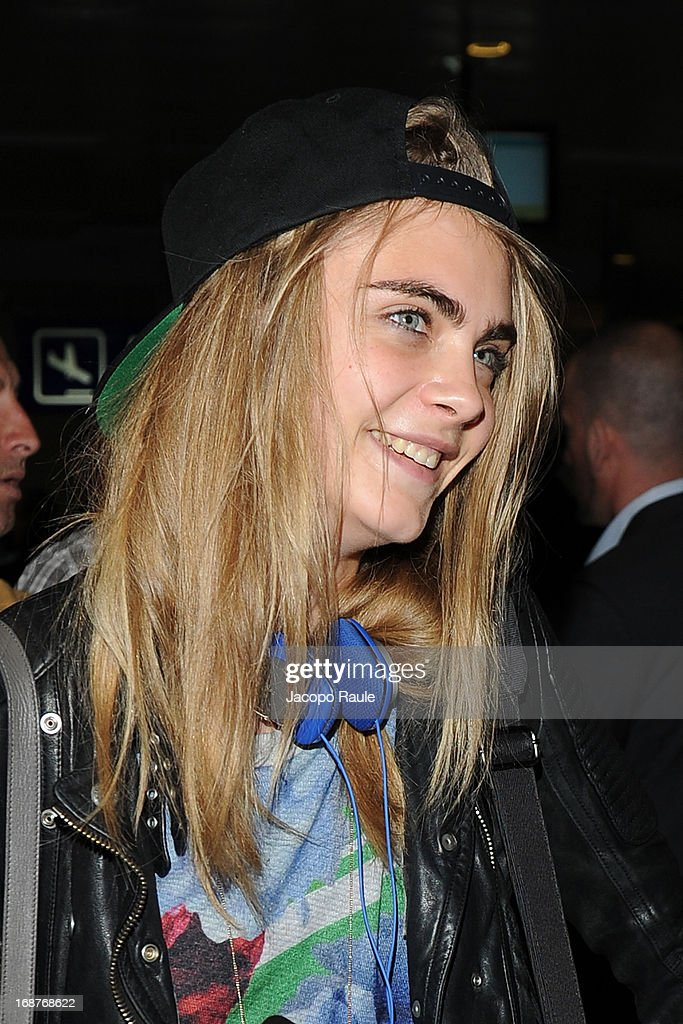 Cara Delevingne is seen arriving at Nice airport during The 66th Annual Cannes Film Festival on May 15, 2013 in Nice, France.