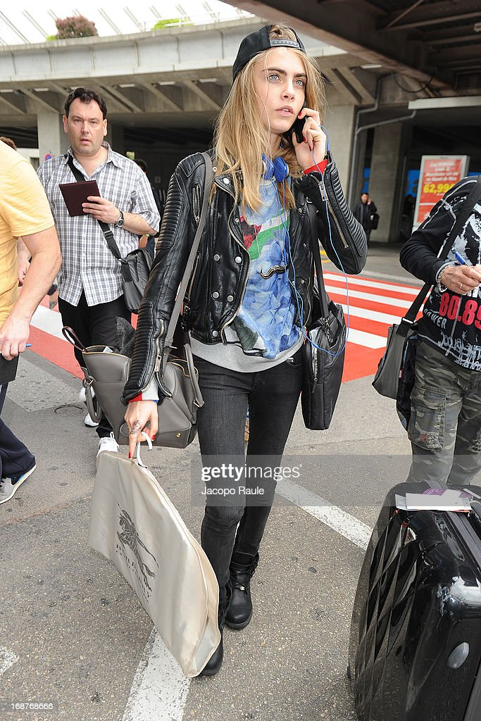 Celebrity Sightings At The Nice Airport - The 66th Annual Cannes Film Festival Day 1 : News Photo