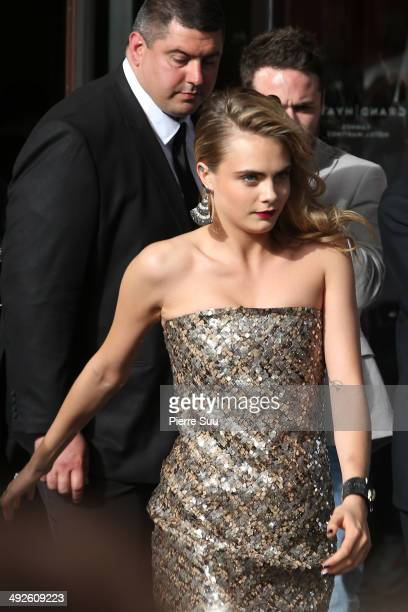 Cara Delevingne is seen at the Martinez Hotel on day 8 of the 67th Annual Cannes Film Festival on May 21 2014 in Cannes France