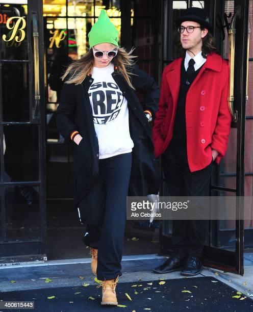 Cara Delevingne is seen in Soho on November 19 2013 in New York City