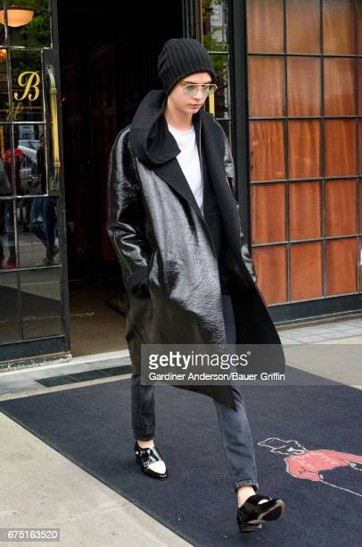 Cara Delevingne is seen on April 30 2017 in New York City