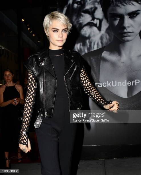 Cara Delevingne is seen on May 17 2018 in New York City