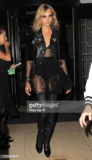 Cara Delevingne leaving the hotel heading to Suicide Squad - European film premiere at Odeon Leicester Square on August 03, 2016 in London, England.