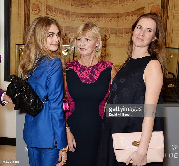 Cara Delevingne Pandora Delevingne and Chloe Delevingne attend the Mulberry dinner to celebrate the launch of the Cara Delevingne Collection at...