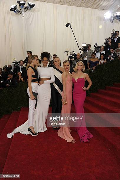 Cara Delevingne Rihanna Stella McCartney Kate Bosworth and Reese Witherspoon attend the 'Charles James Beyond Fashion' Costume Institute Gala at the...