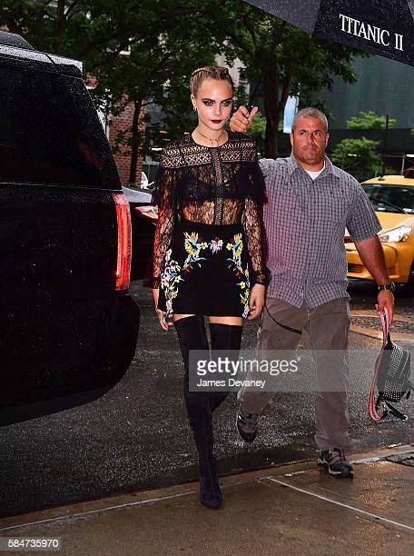 Cara Delevingne seen on the streets of Manhattan on July 30 2016 in New York City