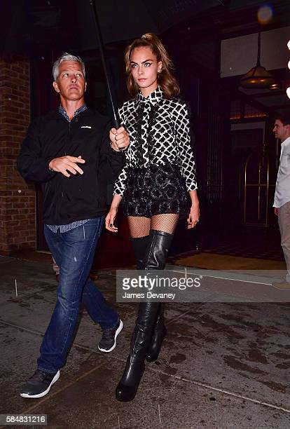 Cara Delevingne seen on the streets of Manhattan on July 31 2016 in New York City