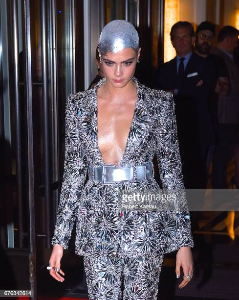 Cara Delevingne seen out in Manhattan before attending the MET Gala on May 1 2017 in New York City