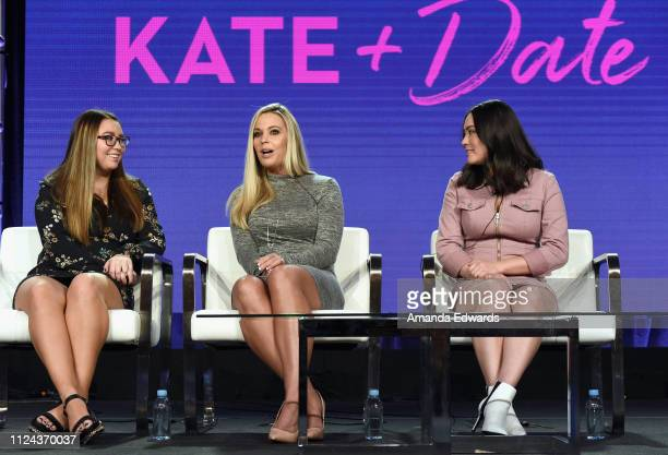 Cara Gosselin Kate Gosselin and Mady Gosselin of 'Kate Plus Date' speak onstage during the TLC portion of the Discovery Communications Winter 2019...