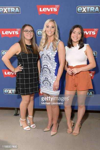 Cara Gosselin Kate Gosselin and Mady Gosselin of the reality TV show Kate Plus 8 visit Extra at The Levi's Store Times Square on June 11 2019 in New...