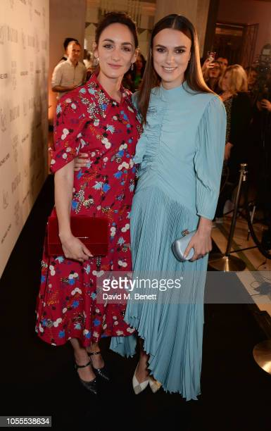 Cara Horgan and Keira Knightley attend the Harper's Bazaar Women Of The Year Awards 2018 in partnership with Michael Kors and MercedesBenz at...