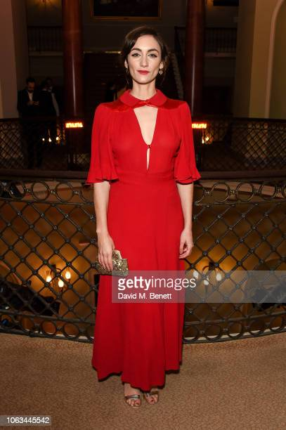Cara Horgan attends The 64th Evening Standard Theatre Awards at the Theatre Royal Drury Lane on November 18 2018 in London England