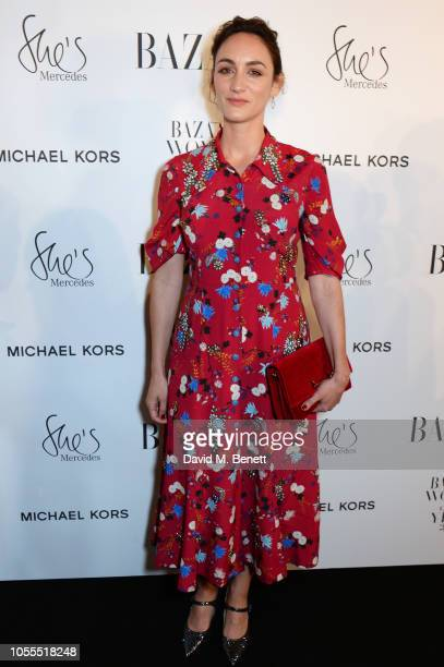 Cara Horgan attends the Harper's Bazaar Women Of The Year Awards 2018 in partnership with Michael Kors and MercedesBenz at Claridge's Hotel on...