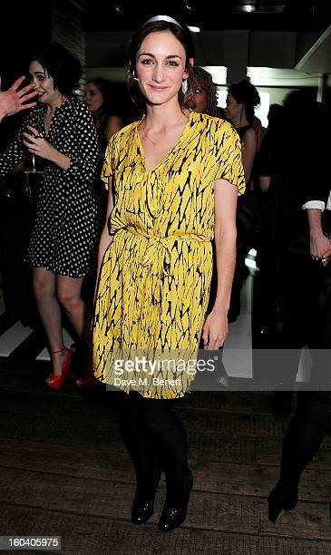 Cara Horgan attends the InStyle Best Of British Talent party in association with Lancome and Avenue 32 at Shoreditch House on January 30 2013 in...