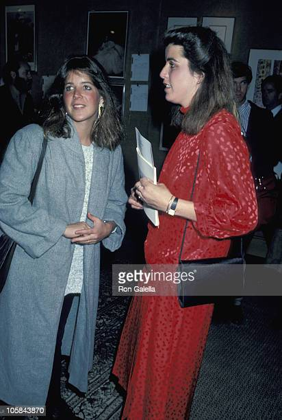 Cara Kennedy and Victoria Frances Lawford during First Public Exhibition and Benefit Auction of Art by Henry Fonda at Sotheby's in New York New York...