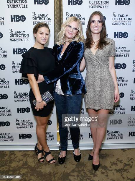 Cara Kennedy Cuomo Sandra Lee and Mariah Kennedy Cuomo attend RX Early Detection A Cancer Journey With Sandra Lee New York screening at HBO Theater...