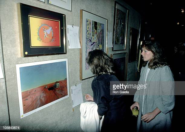 Cara Kennedy during First Public Exhibition and Benefit Auction of Art by Henry Fonda at Sotheby's in New York New York United States