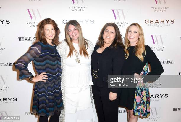 Cara Kleinhaut Alison Brettschneider Morgan Hakimi and Shannon Mattingly Nathanson attend Visionary Women Presents The New Normal How Social Media is...