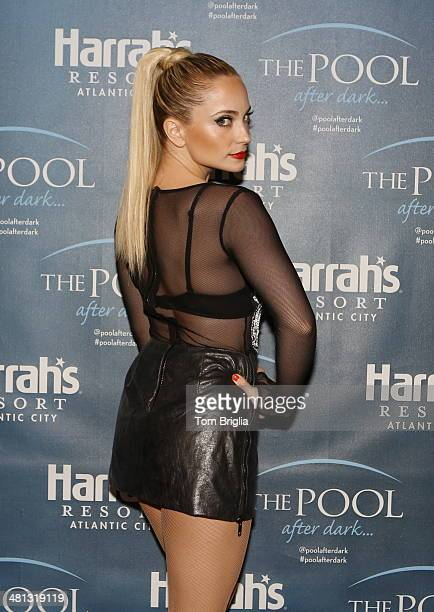 Cara Quici poses at The Pool After Dark at Harrah's Resort on Friday March 28 2014 in Atlantic City New Jersey
