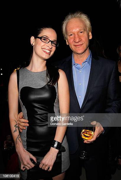 Cara Santa Maria and Comedian Bill Maher attend W Magazine's Celebration of The Best Performances Issue and The Golden Globes held at at Chateau...