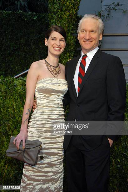 Cara Santa Maria and tv personality Bill Maher arrive at the 2010 Vanity Fair Oscars® Party in West Hollywood