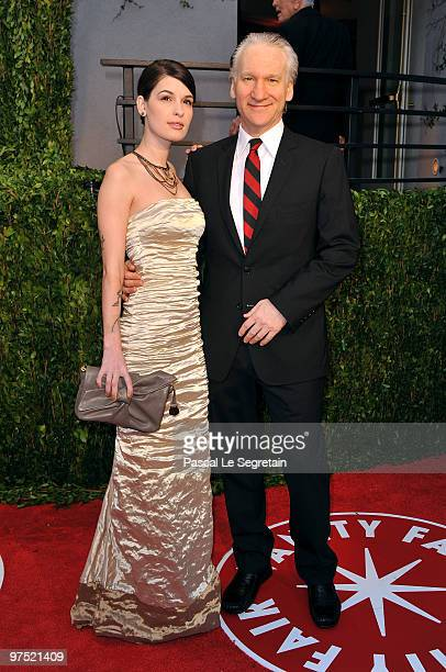 Cara Santa Maria and tv personality Bill Maher arrive at the 2010 Vanity Fair Oscar Party hosted by Graydon Carter held at Sunset Tower on March 7...