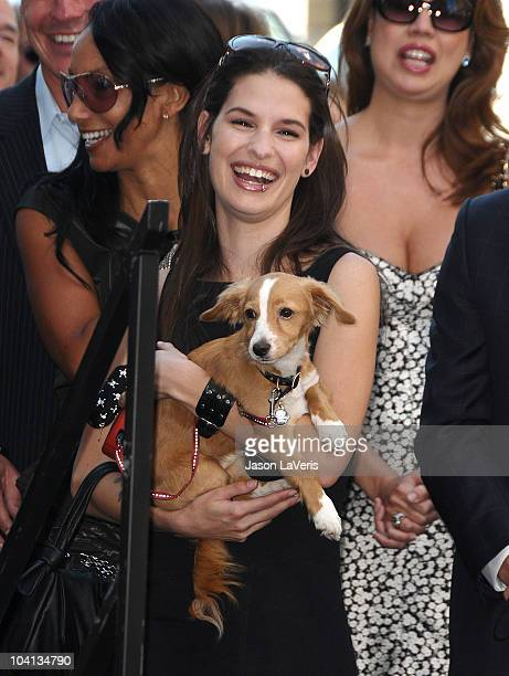 Cara Santa Maria attends Bill Maher's induction into the Hollywood Walk of Fame on September 14 2010 in Hollywood California