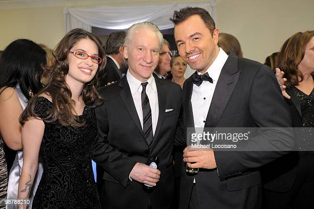 Cara Santa Maria Bill Maher and Seth MacFarlane attend the TIME/CNN/People/Fortune 2010 White House Correspondents' dinner preparty at Hilton...