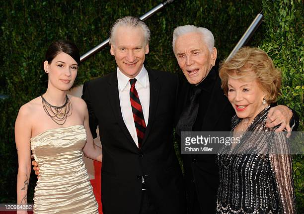 Cara Santa Maria Bill Maher Kirk Douglas and wife Anne Douglas arrive at the 2010 Vanity Fair Oscar Party hosted by Graydon Carter held at Sunset...