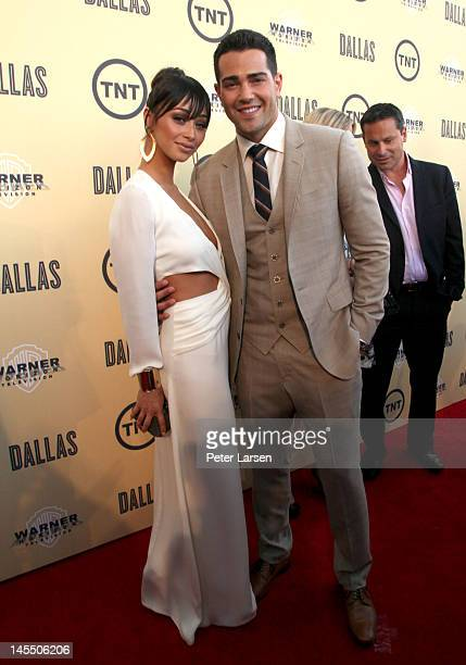 Cara Santana and actor Jesse Metcalfe attend the gala premiere screening of Dallas hosted by TNT and Warner Horizon at the Winspear Opera House on...