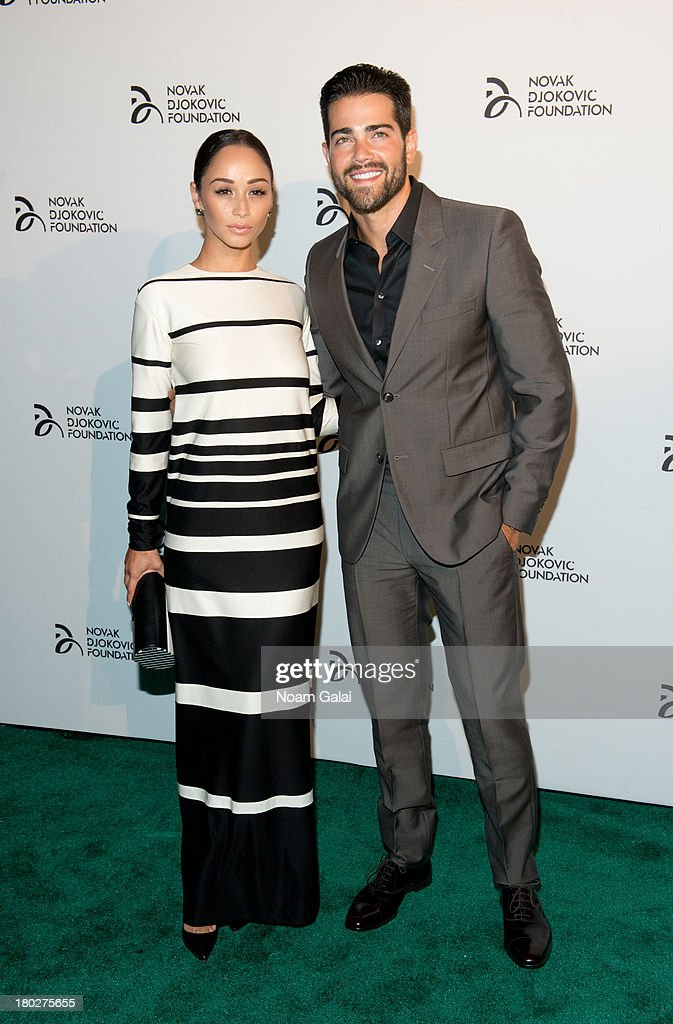 Cara Santana and actor Jesse Metcalfe attend the The 2013 Novak Djokovic Foundation Dinner at Capitale on September 10, 2013 in New York City.
