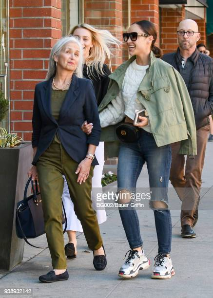 Cara Santana and her mother Nancy Santana are seen on March 27 2018 in Los Angeles California