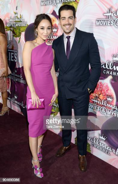 Cara Santana and Jesse Eden Metcalfe attend Hallmark Channel And Hallmark Movies and Mysteries Winter 2018 TCA Press Tour at Tournament House on...