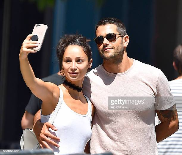 Cara Santana and Jesse Metcalfe are seen in Soho August 11 2016 in New York City