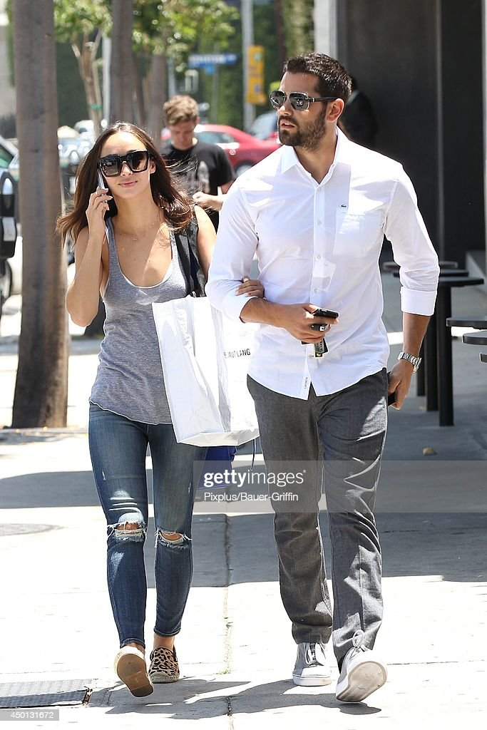 Cara Santana and Jesse Metcalfe are seen on June 05, 2014 in Los Angeles, California.